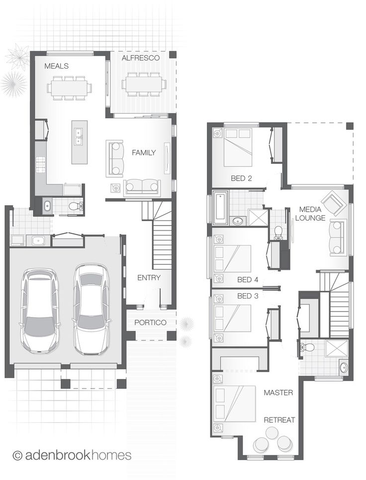 From 235.0m2, 4 Bedrooms, 2.5 Bathrooms, 2 Car Garage. The cleverly designed Deakon takes maximum advantage of a small lot.