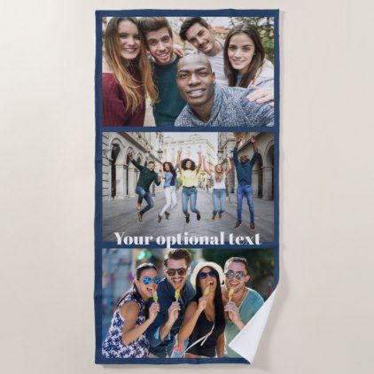 YOUR PHOTOS custom beach towel - home decor design art diy cyo custom
