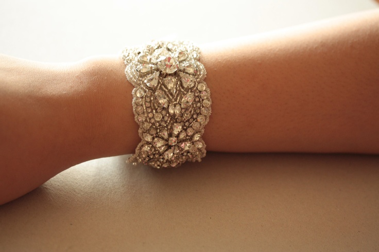 Wedding Statement Bracelet, Accessories Bridal Bracelet -  MI Bracelet (Made to Order). $79.00, via Etsy.
