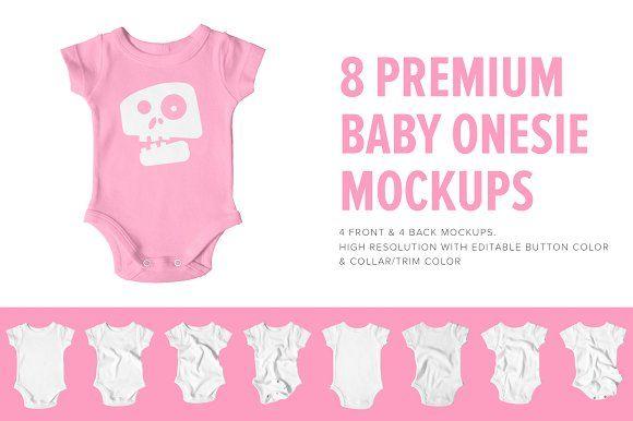 8 Premium Baby Shirt/Onesie Mockups by Pixel Sauce on @creativemarket