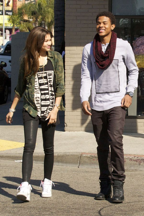 Zendaya and Trevor Jackson celebrate his new music video with ice cream and Amoeba Records : eCelebs.com