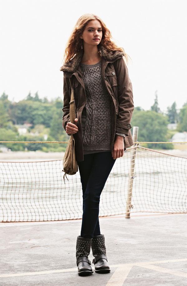 Sashimi Jacket, Rubbish® Sweater & Vigoss Jeans #Nordstrom #BPNordstrom #FallTrend