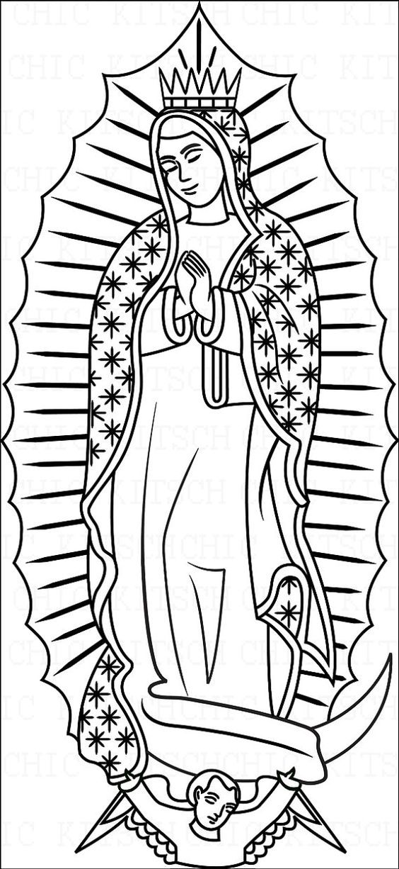 Abc Coloring Lady Of Guadalupe - Clipart Library •