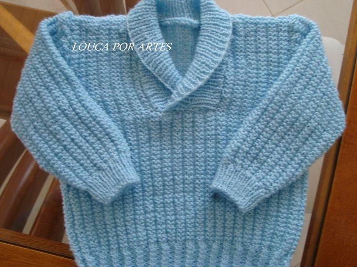 receita de tricô blusa masculina infantil