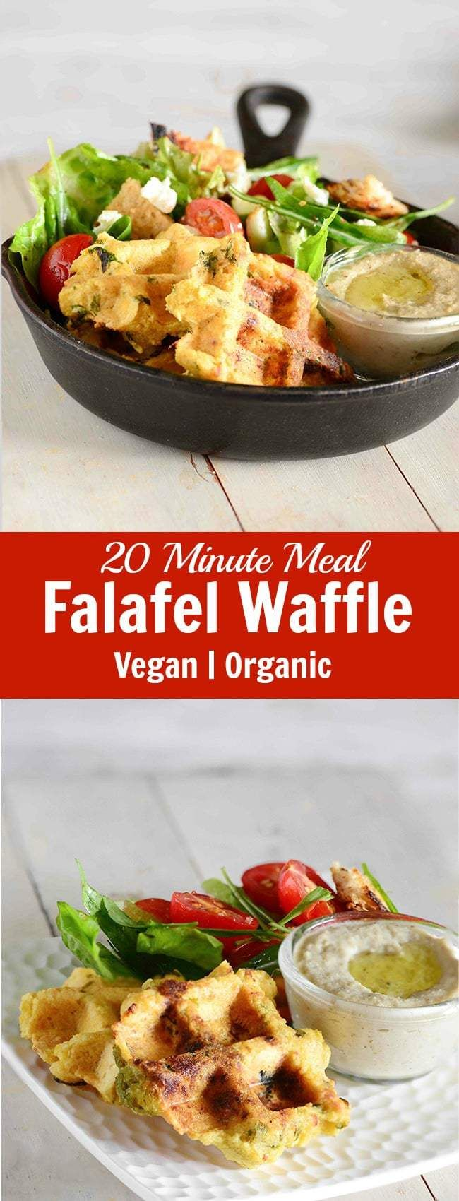 Falafel and waffle, two of my favorite words in the same breath in this falafel waffle recipe, and that makes it one of my absolute favorite way to eat falafels. And this falafel waffle recipe is an adaptation taking inspiration from this popular middle eastern food falafels. Falafel are a popular Middle Eastern/Mediterranean street food. It is often served with hummus and Tahini sauce. The taste of the falafel remains one of my favorite even till today. The other day when I was experime...