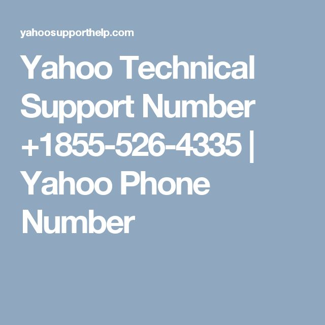 Yahoo Technical Support Number +1855-526-4335 | Yahoo Phone Number