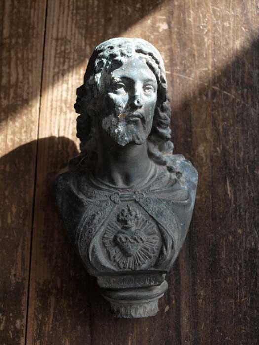 Etsy の 1900年ブロンズキリスト像サクレクール残欠 宗教彫刻アンティーク by GliciniaANTIC