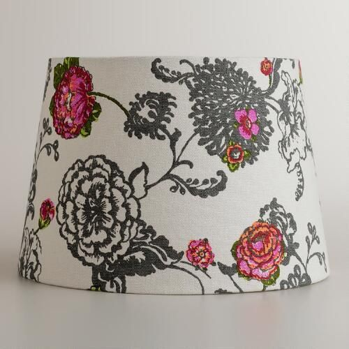 One of my favorite discoveries at WorldMarket.com: Laurent Floral Accent Lamp Shade