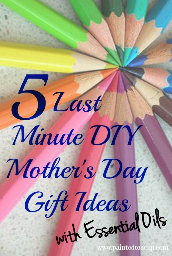 5 Last Minute DIY Mother's Day Gift Ideas | Diy gifts for ...