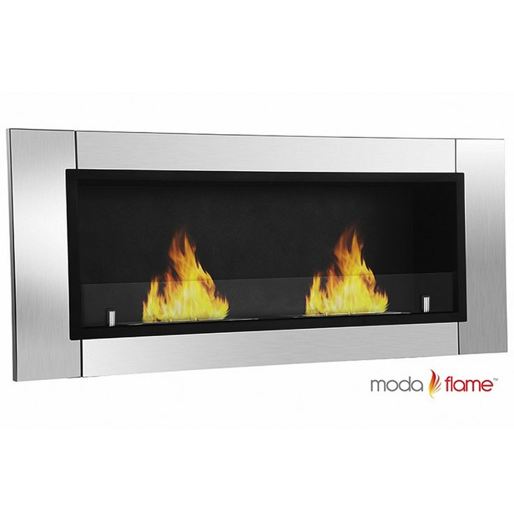 Moda Flame Valencia Wall Mounted Ethanol Fuel Fireplace