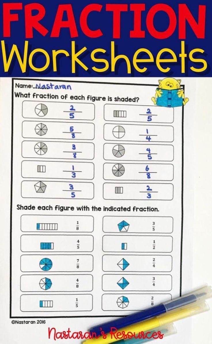 Fraction Worksheets For Grade 3  [ 1190 x 736 Pixel ]