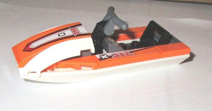 $10.50 #lego #jetski #summer #boatday #legos #forsale #ebay LEGO Racers Boat Deep Sea Explorers Minifigure Orange Coast Guard Jet Ski ATV  #lego