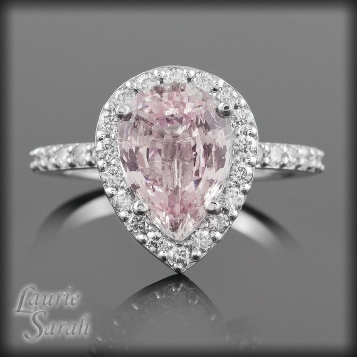 Pear Pink Sapphire Diamond Engagement Ring 1 800x800 800×800