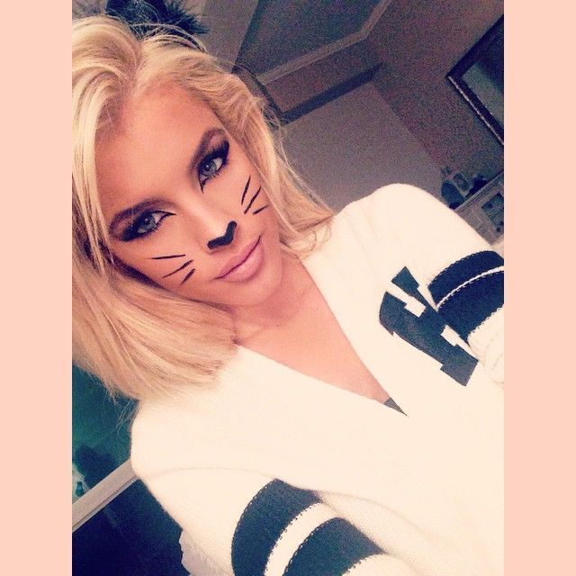 I love this cat makeup! #kitty #halloween2015