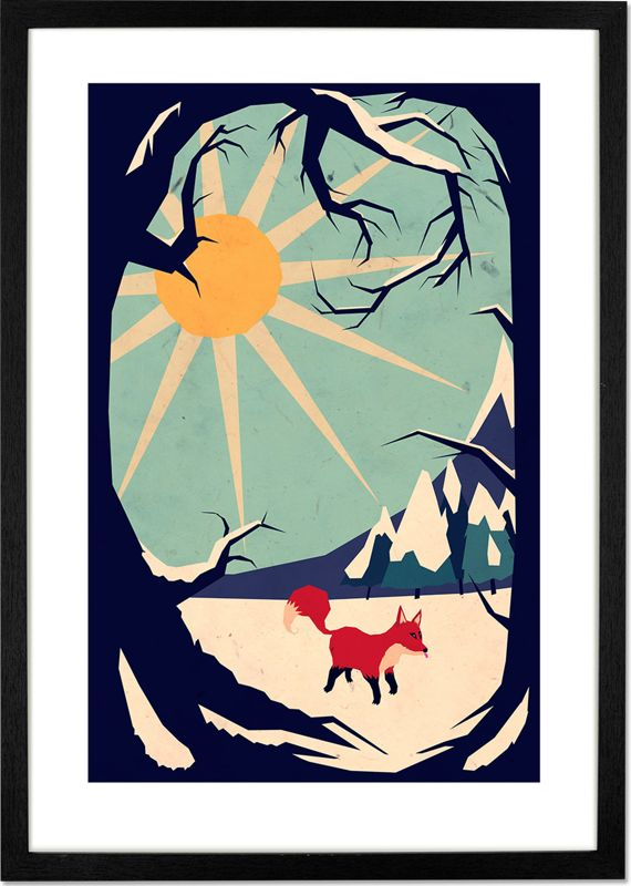 Fox Roaming Around II by Yetiland, 30 x 42cm (A3) Framed Print from Made.com. Add character to your room with this digital print by Yetiland. Want m..
