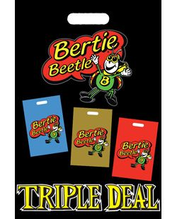 I got the Bertie Beetle Triple Deal showbag today at the EKKA.