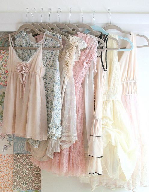 Pretty dress collection from Tamar of Nest Decorating...Pastel, Fashion, Summer Outfit, Style, Closets, Soft Colors, Dresses, Summer Clothing, Summer Wardrobe