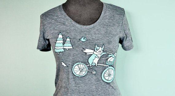 Heather Grey Bike Tshirt Bicycle shirt by boygirlparty on Etsy, $20.00