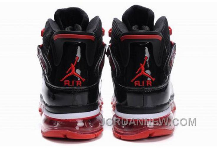 Men's Nike Air Max Jordan Six Rings Shoes Black/Red Super Deals