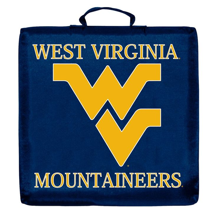 Logo Brand West Virginia Mountaineers Stadium Cushion, Multicolor