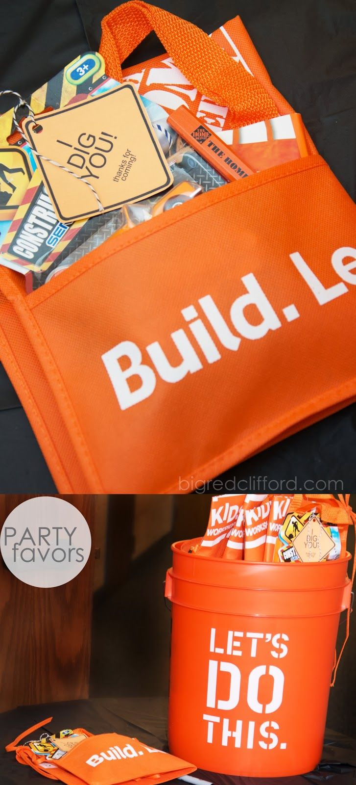 3 year old construction party favors for toddlers or big kids! | bigredclifford.com