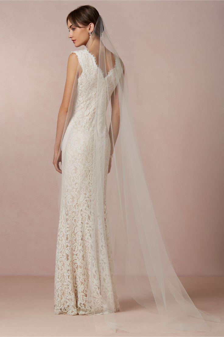 Low Back Wedding Dress With Veil : Best ideas about floor length veil on