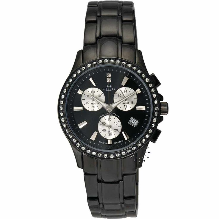 LIBERTY Crystal Black Stainless Steel Bracelet Τιμή: 195€ Τιμή Προσφοράς: 78€ http://www.oroloi.gr/product_info.php?products_id=20280