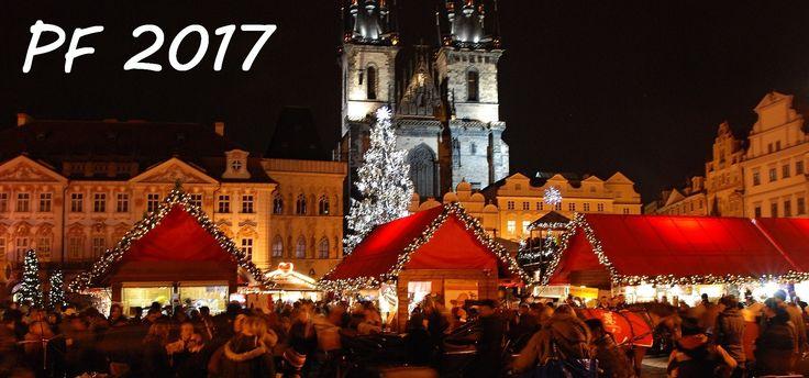 Novoroční přání 2017 se zimními motivy zdarma ke stažení nebo k vytištění rozměry 210 x 99 mm pro obálku DL. Text uvedený na přání k novému roku je PF 2017.