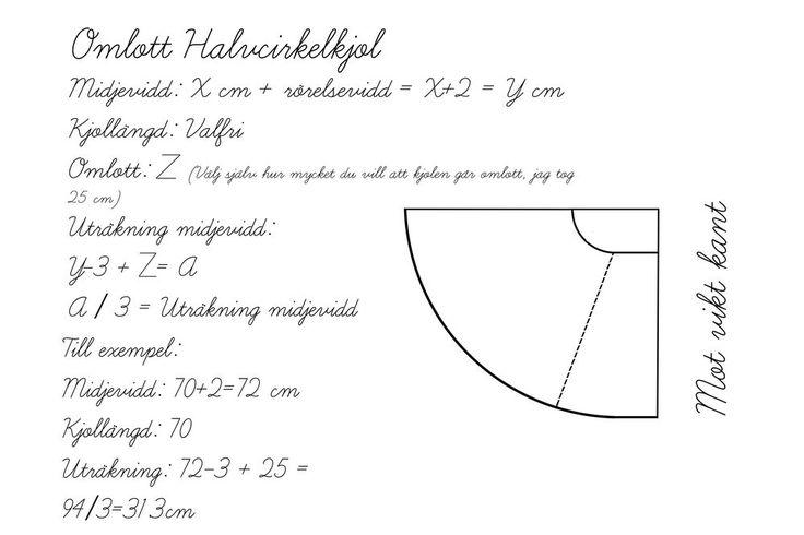 Sew a circle skirt    Fredrikapavinden.com