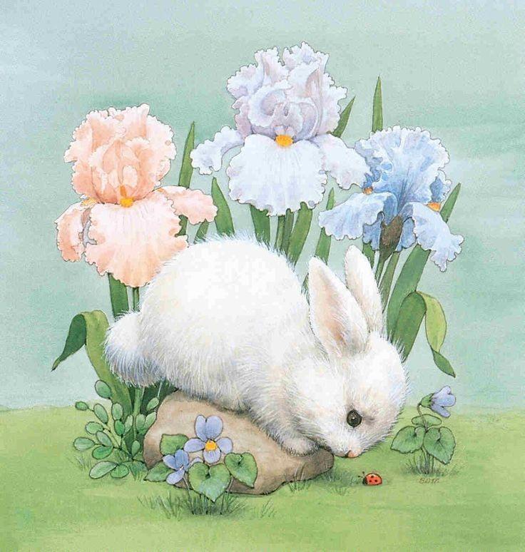 Днем, открытка рисунок с заяц