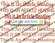 10 Great Font Combinations from Google Web Fonts - http://www.onextrapixel.com/2013/03/11/10-great-font-combinations-from-google-web-fonts/