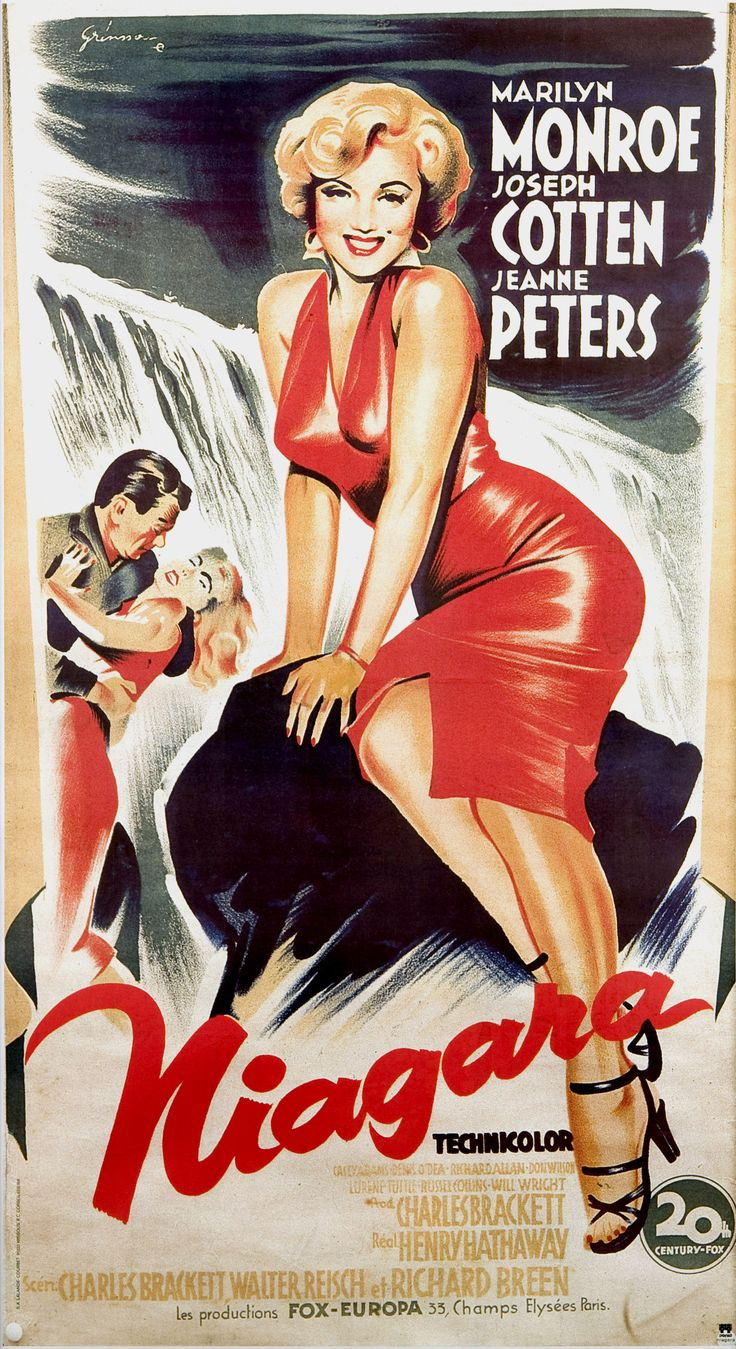 NIAGARA * CineMasterpieces FRENCH ORIGINAL MOVIE POSTER 1970'S MARILYN MONROE