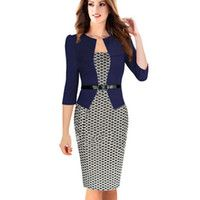 Cheap Womens Business Suits Blazer with Skirts Ladies Formal Office Suits Work Career Uniform Designs Elegant Pencil Dress for Women