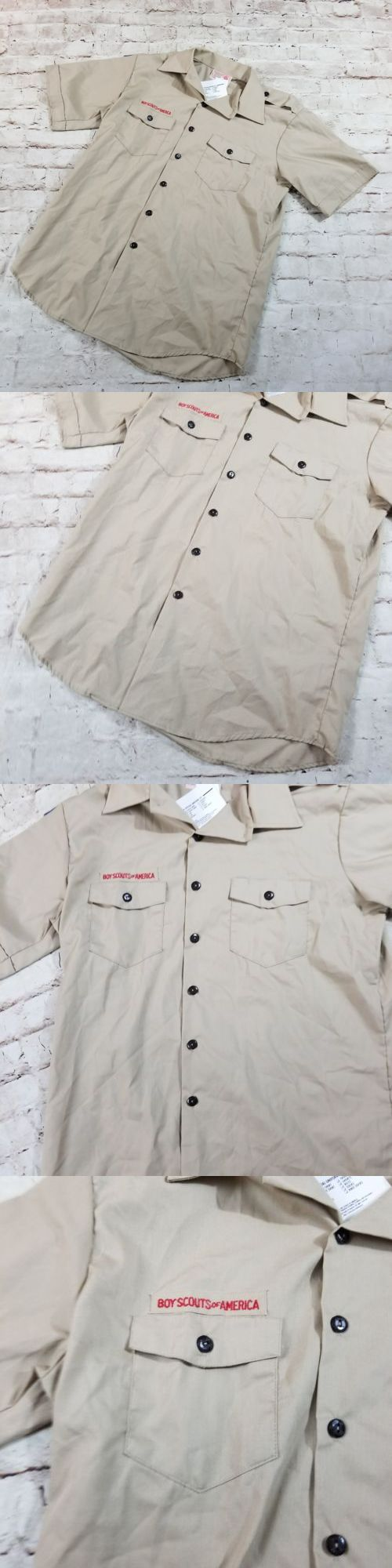 Scouting Uniforms 105418: New Men S Boy Scouts Of America Adult Large Short Sleeve Shirt Uniform Usa Made -> BUY IT NOW ONLY: $38.99 on eBay!