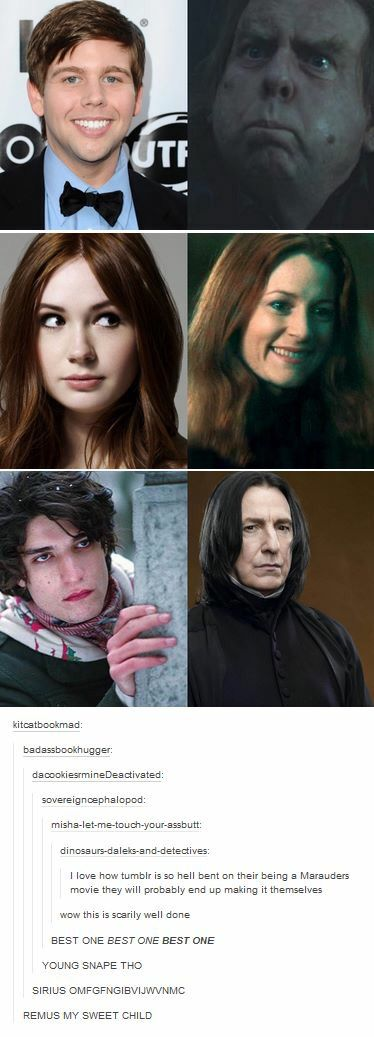 Click through for the rest - I love the guy they have as Wormtail, I never really liked Jamie Bell in that part...but I NEED Ben Barnes as Sirius!!