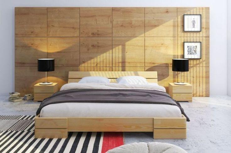 Łóżko sosnowe Visby Sandemo - Sklep meblowy Onemarket - Meble do sypialni, pokojowe, młodzieżowe