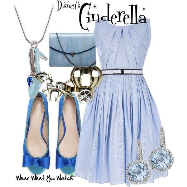 Cinderella by wearwhatyouwatch on Polyvore featuring Antonio Marras, Carvela, L'Wren Scott, Max & Chloe, Disney, mel, ballet flats, cinderella, fairy tale and clutches