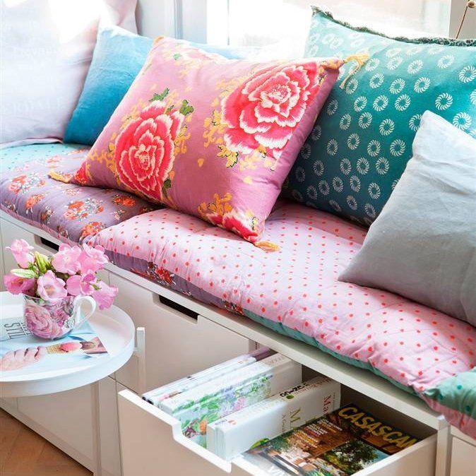 Encantador Dormitorio Muebles Tapizados Banco De Almacenamiento ...
