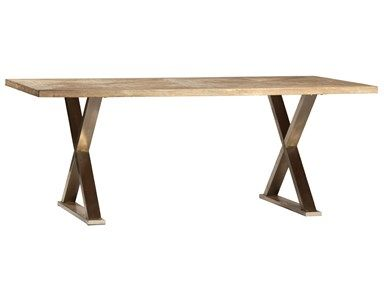 Dovetail DOV762 Dining Table W/ Stand at Goods Home Furnishings in NC Discount Furniture Stores