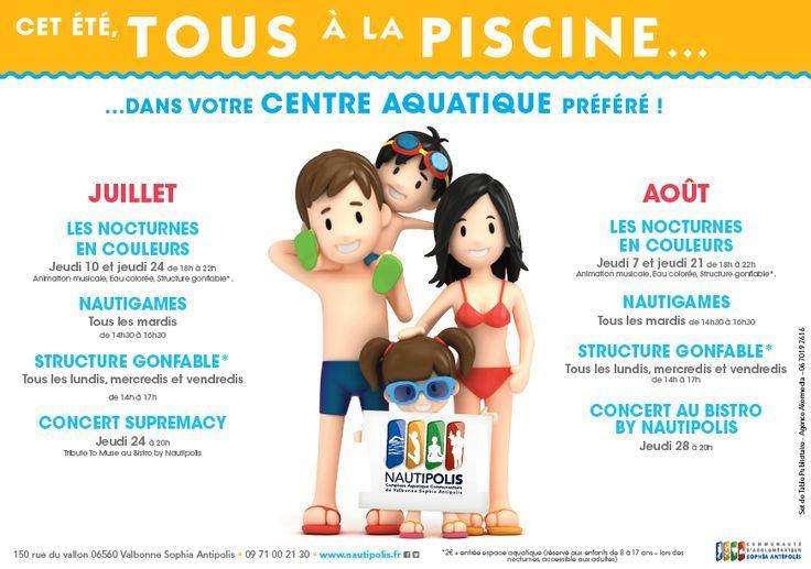 19 best sets de table publicitaires images on pinterest for Piscine nautipolis