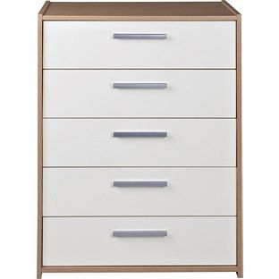 Buy New Sywell 5 Drawer Chest - Oak Effect and White at Argos.co.uk - Your Online Shop for Chest of drawers.