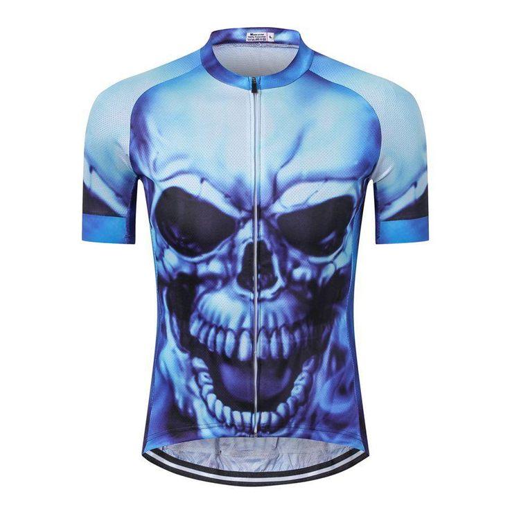 Evil Skull Skeleton Men's Cycling Jersey