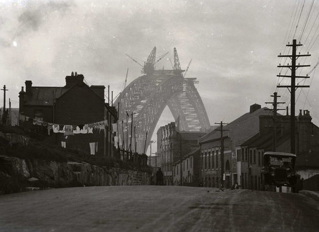 World War I, the Great Depression and World War II slowed or prevented much of the proposed redevelopment of The Rocks. Change resumed with the construction of the Sydney Harbour Bridge in the 1920s and 1930s. Building the southern approach to the bridge led to the demolition of 280 houses along Princes Street.