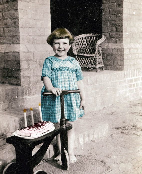 Happy Birthday Little Girl Cake Candles Greeting Card by maclancy, $6.50