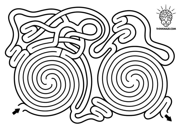 Printable Labyrinth Maze Thinkmaze Circle Maze Print