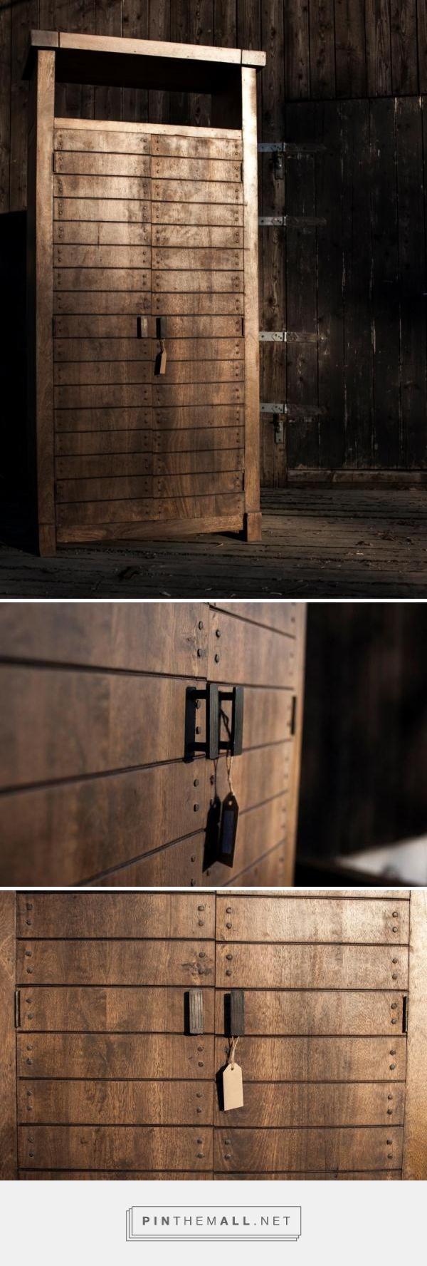 Oro Wood Skap / grey brown, 90x45x190 5000,-