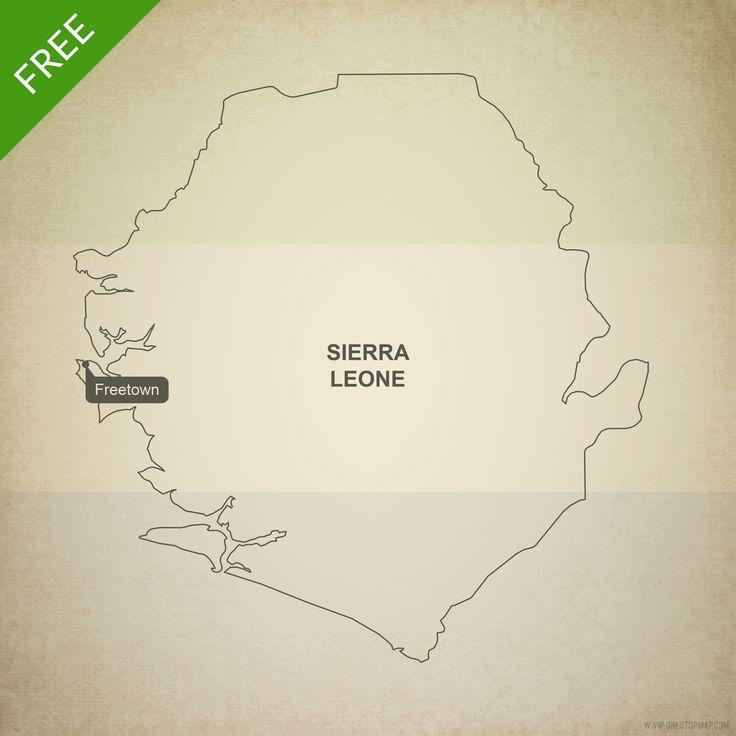 Free map of Sierra Leone outline