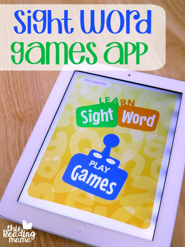 Sight Word Games App from This Reading Mama - You customize the sight word list for EACH player!