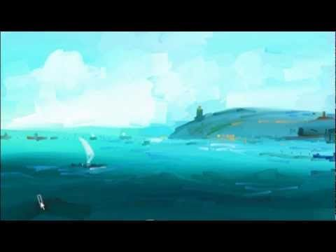 in this video you will learn how to make out to draw a Sea view in speed paintings