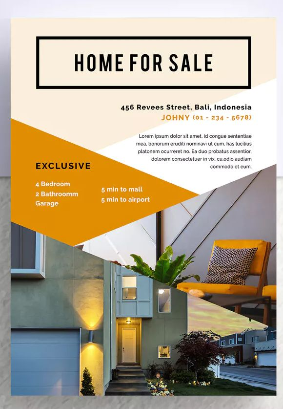 Golok Professional Real Estate Flyer Template PSD - A4 Download